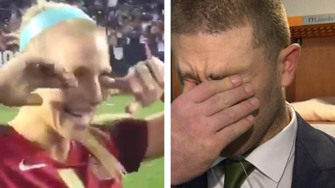 Julie Ertz Reacts to Eagles Super Bowl Berth