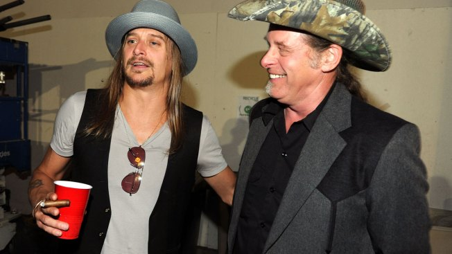 Ted Nugent, Kid Rock visit White House, dine with President Trump
