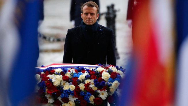 Macron Marks Armistice Day, 101 Years After End of WWI