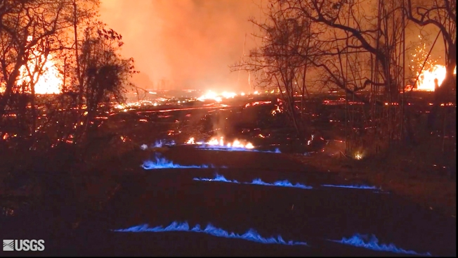 Hawaii Volcano Produces Methane and 'Eerie' Blue Flames