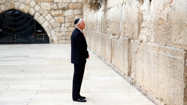 Pence Visits Western Wall Amid Tensions with Palestinians