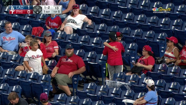 Two Young Phillies Fans Show Their Brotherly Love at Citizens Bank Park
