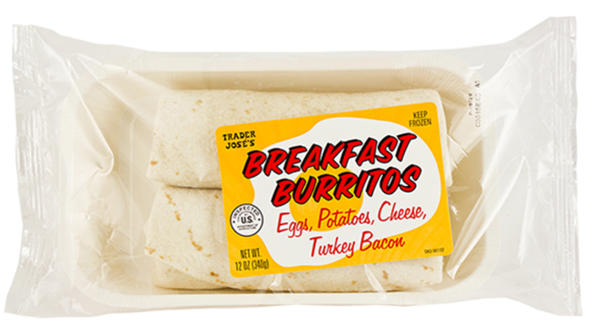 Trader Joe's Recalls Frozen Breakfast Burritos
