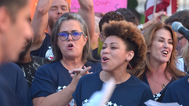 Rosie O'Donnell, Broadway Stars Protest Outside White House