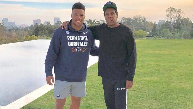 Saquon Barkley signs with Jay Z's Roc Nation