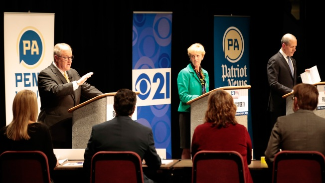 Pa. Gubernatorial GOP Candidates Disagree Over Attack Ads, Unions and Wage Law