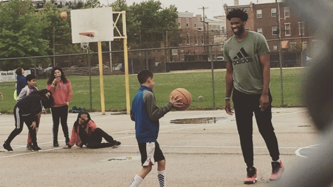Joel Embiid Returns to the Court in South Philly - to Play Pickup With a Kid