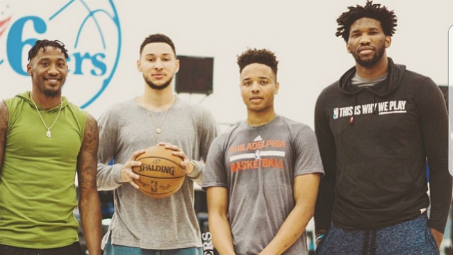 Embiid Posts Photo With Fultz, Who Already Trusts the Process
