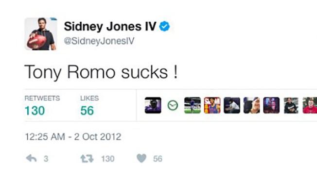 New Eagle Sidney Jones Deletes an Old Tweet - Bashing Tony Romo