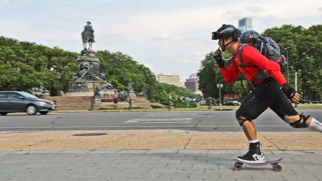 Philly Native Skateboarding Across Country to Find Calm (and His Hair)