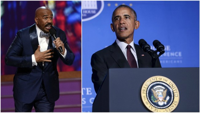 Obama Slams Trump Views on Women During Steve Harvey Morning Show