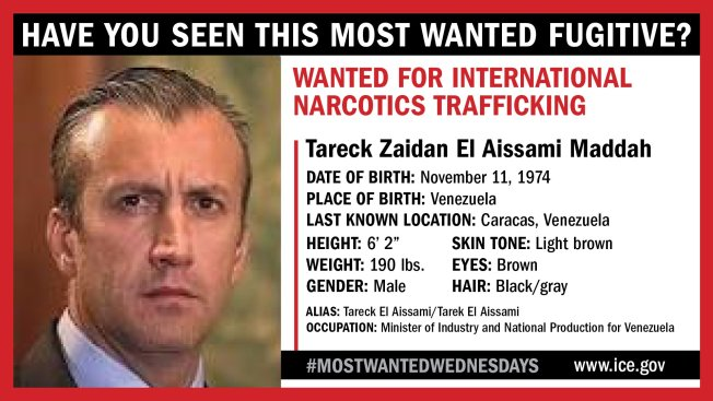 ICE: Former Venezuelan VP Among 10 Most Wanted Fugitives