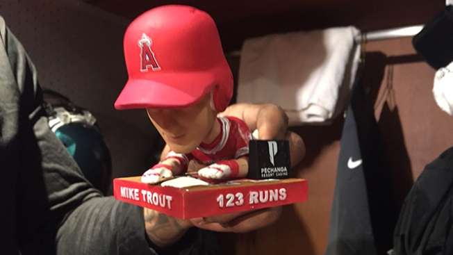 Every Eagles Player Gets to Take Home a Mike Trout Bobblehead