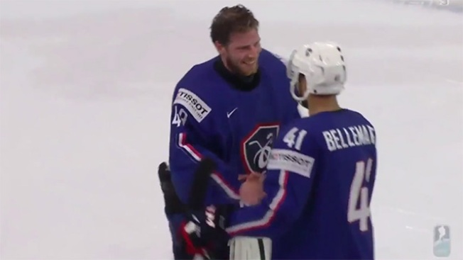 Pierre-Edouard Bellemare Rejects Player of the Game Award, Gives It France's Goalie