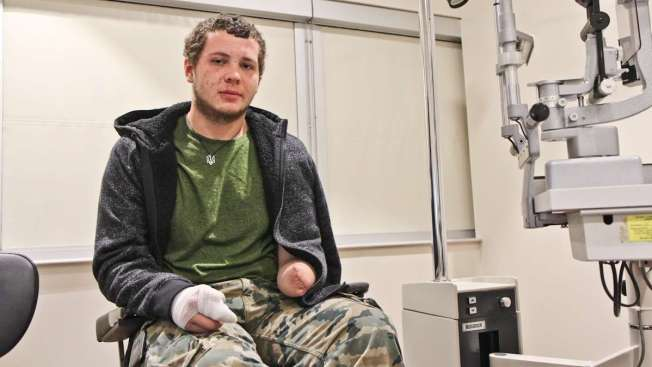 Ukraine Doctor, Wounded Kiev Protester Meet in Jenkintown
