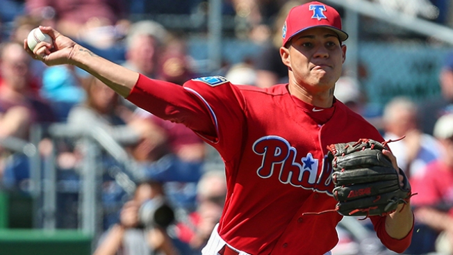 Awkward Landing Ends Game Early for Phils Reliever