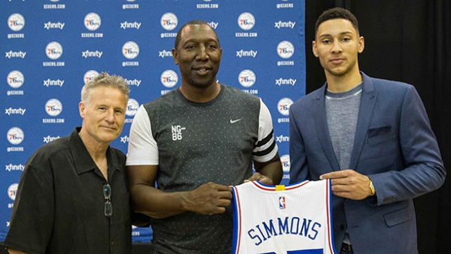 cf6344fe5 Ben Simmons Already Ranking in Top 10 of NBA Merchandise Sales - NBC ...