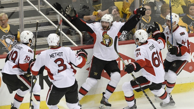 NHL Playoffs: Bobby Ryan Lifts Senators Past Penguins in OT in Game 1