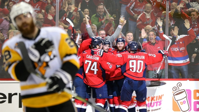 NHL Playoffs: Capitals Stave Off Elimination, Beat Pens, 4-2, in Game 5