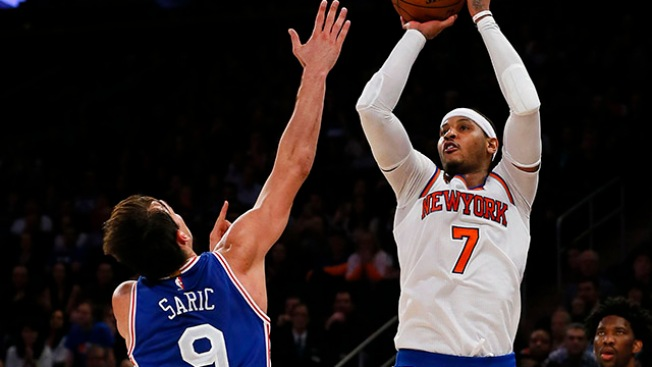 Carmelo Anthony Lights Up Sixers, Hits Unstoppable Game-winning Bucket