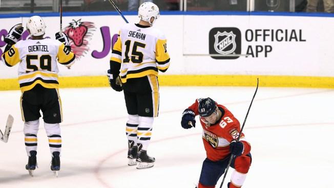 Dadonov's Hat Trick Helps Panthers Beat Penguins