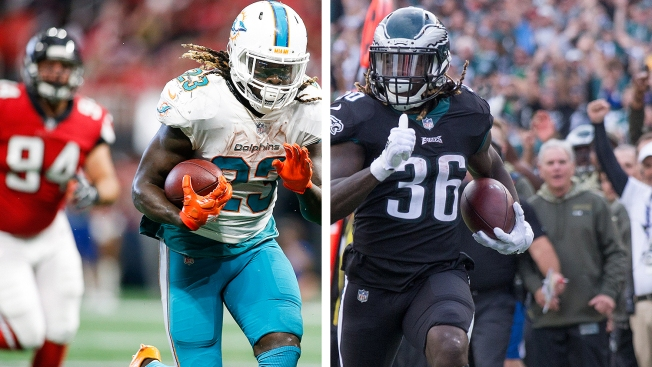 Jay Ajayi's power running style dominated the Falcons in Week 6