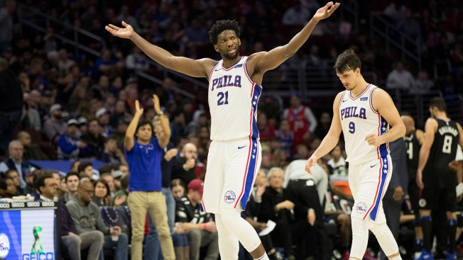 'Dramatic' Embiid Insists He's Fine After Injury Concern