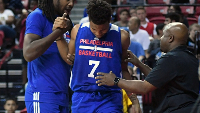 Markelle Fultz Leaves Summer League Game vs. Warriors with Ankle Injury
