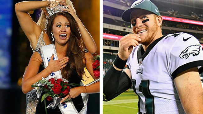 Carson Wentz Reacts to Miss America Referencing Him as Inspiration