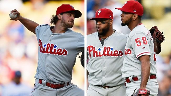 Aaron Nola, Seranthony Dominguez Shine Bright in Massive Win for Phillies