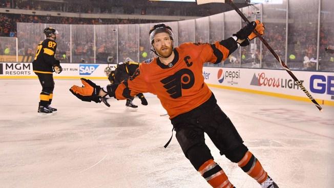 9d81611c8 Flyers Win 4-3 in Overtime Thriller Against Penguins - NBC 10 ...