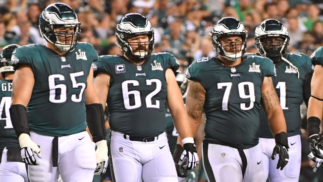 Will Eagles' OL Live Up to PFF's Billing as NFL's Top Offensive Line?