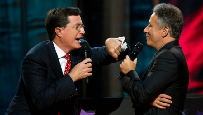 """Daily Show,"" ""Colbert Report"" Return from Sandy Hiatus"