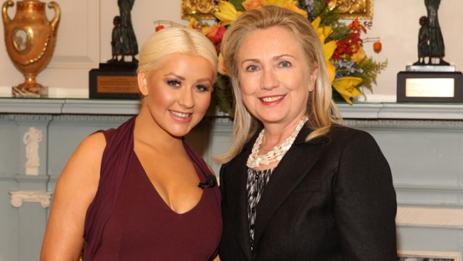 Christina Aguilera Talks Giving Hillary Clinton an Eyeful of Cleavage