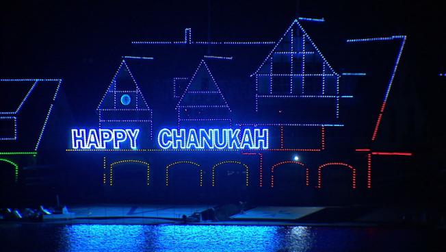 Philadelphia's Iconic Boathouse Row Gets 'Happy Chanukah' Glow
