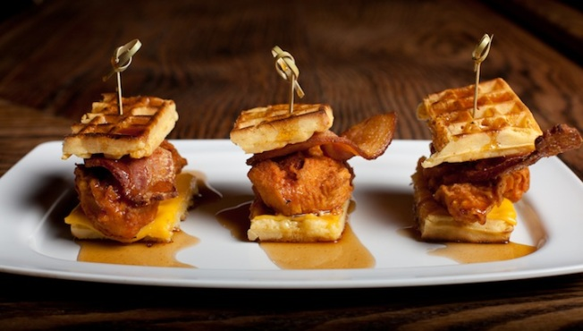Recipe: Pork Slope Chicken and Waffle Sliders