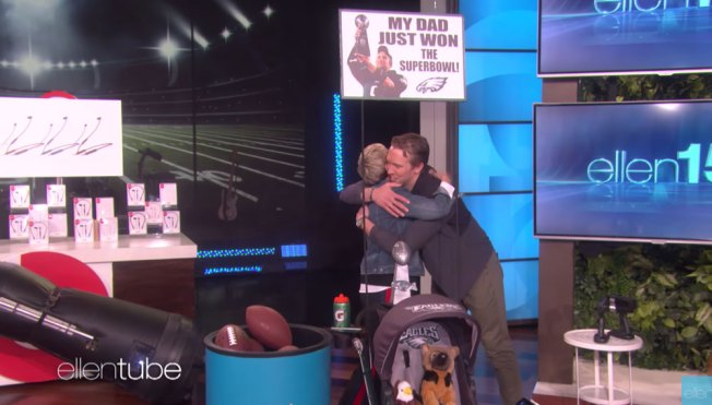 Nick Foles Guests on 'Ellen,' Talks About Future With Eagles