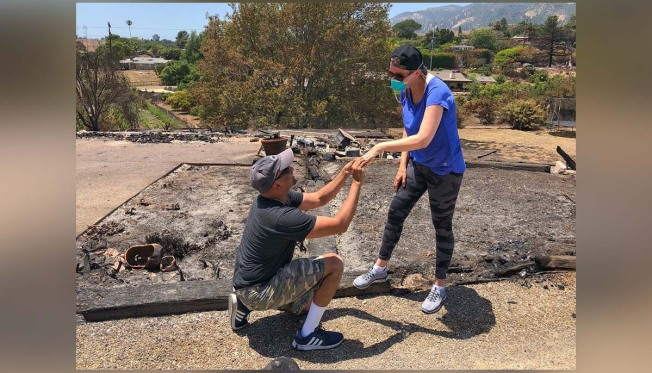 With Ring Found in Ashes of Burned Home, Man Proposes Again
