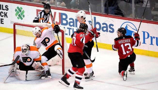 Alex Lyon's 1st NHL Start Has Devilish Finish
