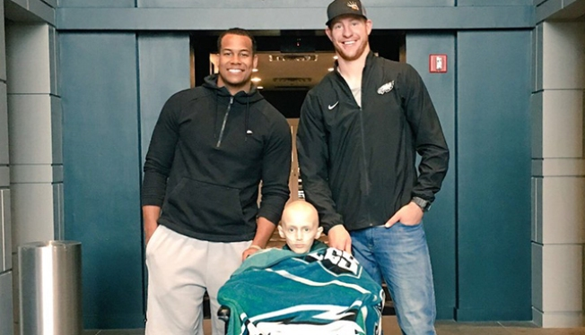 Carson Wentz Shares Touching Story of Meeting Lukas Kusters, a 9-year-old Fighting Cancer