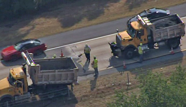 Route 422 Open After Road Bucklings