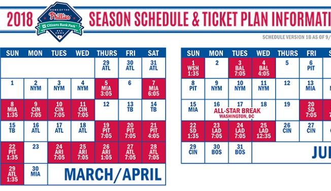 Phillies 2018 Schedule Notes: Season Starts Early, Heavy Dose of AL East