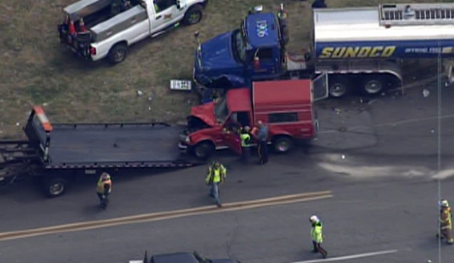 Tanker Truck Accident Shuts Delco Road