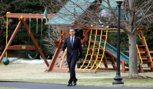 Obamas Donate Daughters' Swing Set to Washington Shelter
