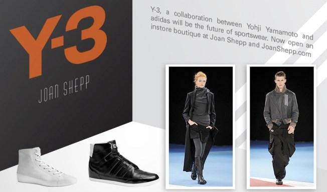 Y-3 Shop Debuts at Joan Shepp