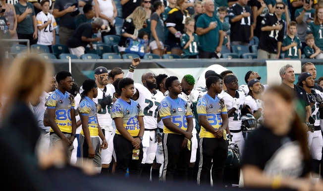 Malcolm Jenkins Resumes National Anthem Protest for Eagles-Steelers Preseason Game