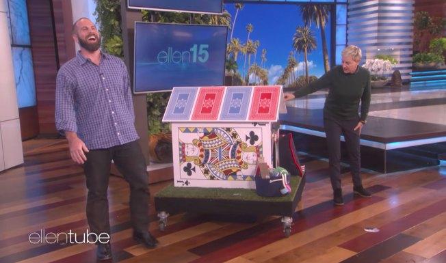 Jon Dorenbos Talks About a Saint Saving His Life on Ellen