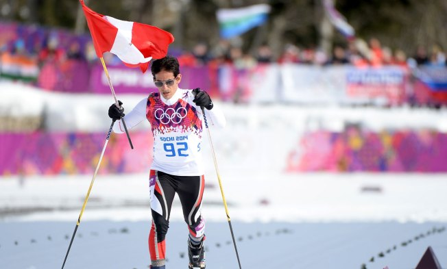 Injured Skier Finishes Last, Winner Waits at Finish Line