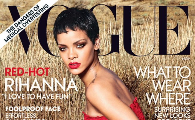 "Rihanna Covers Vogue, Talks World's ""Obsession"" With Her and Chris Brown"