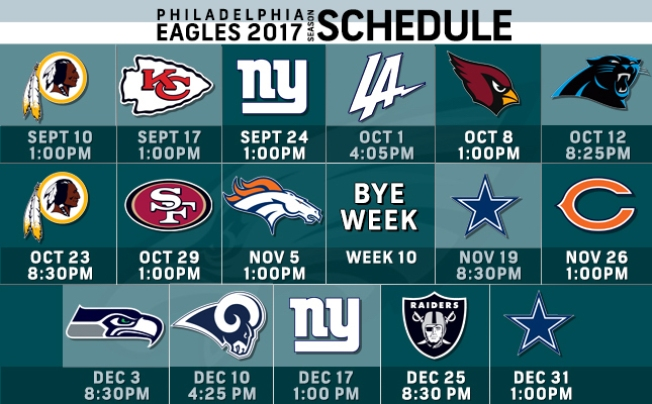 Eagles 2017 Schedule: Game-by-game Breakdown